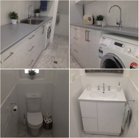 A laundry and toilet remodel in Adelaide.