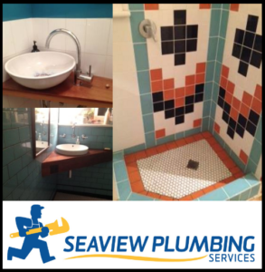 A colourful bathroom redesign in Largs Bay.